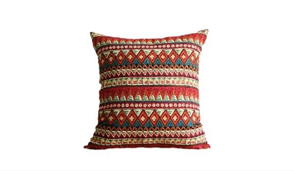 Apartminty Fresh Picks: Bohemian Chic Apartment Decor | Red Patterned Throw Pillow Cover