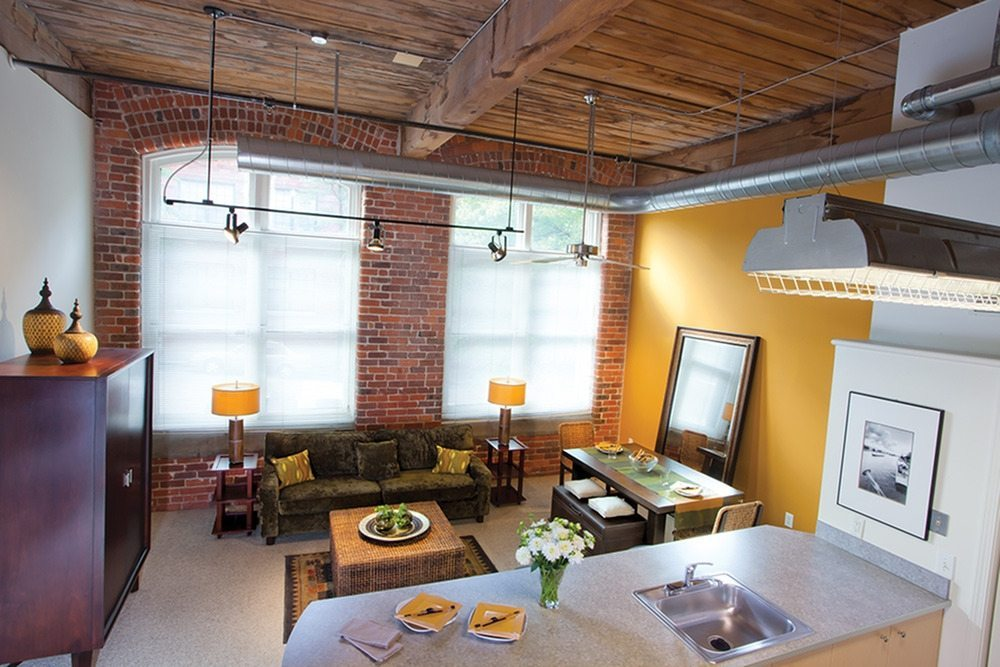 American Cigar Lofts | Converted Loft-Style Apartments in Richmond, VA | Living Room