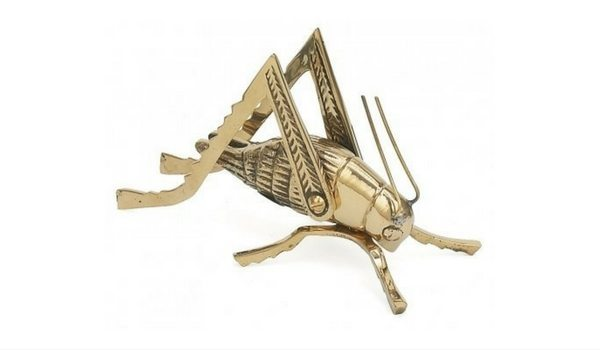 Apartminty Fresh Picks: Brass Accents Apartment Decor | Solid Brass Good Luck Hearth Cricket