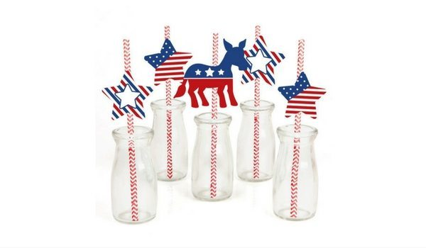Apartminty Fresh Picks | Election Day Party | Presidential Decorative Paper Straws