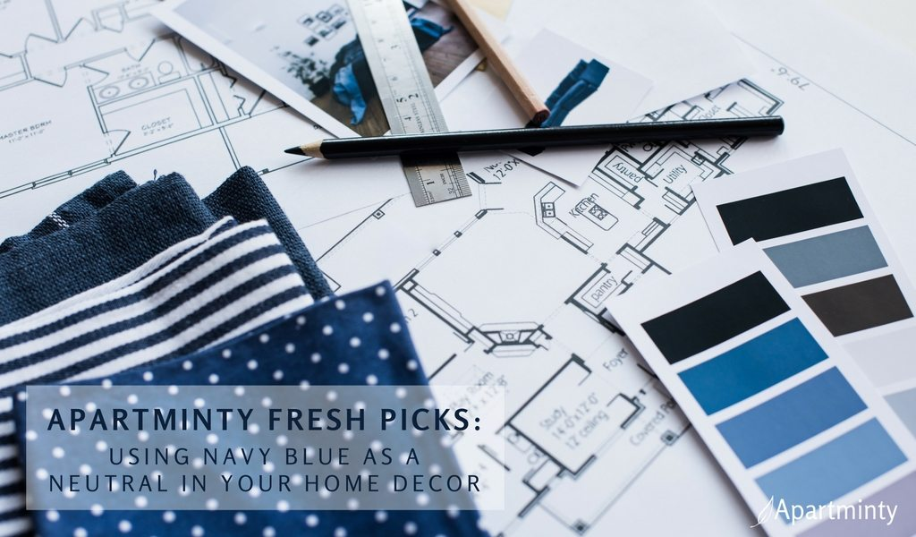 Apartminty Fresh Picks: Navy Is The New Black | Using Blue As A Neutral In Home Decor