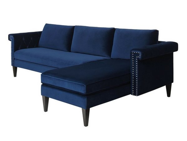 Apartminty Fresh Picks | Blue Velvet Couch With Sectional | Apartment Decor