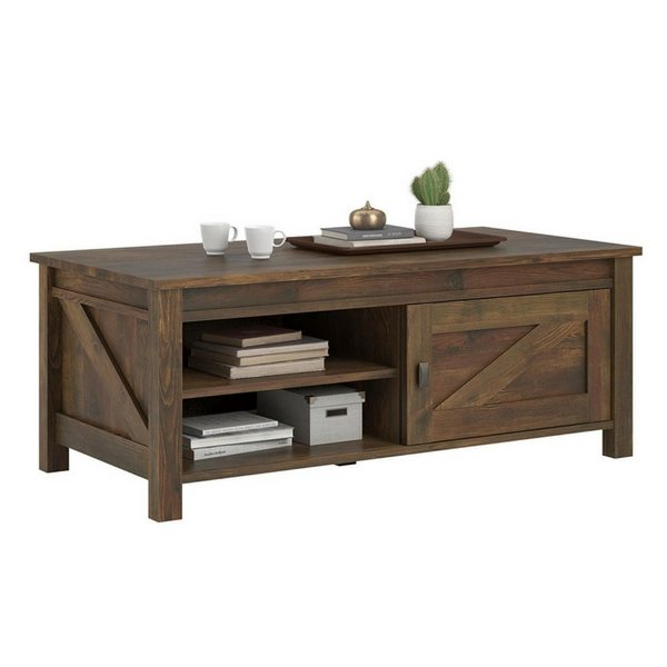 Apartment Furniture For Small Spaces | Furniture With Storage | Barn Pine Coffee Table