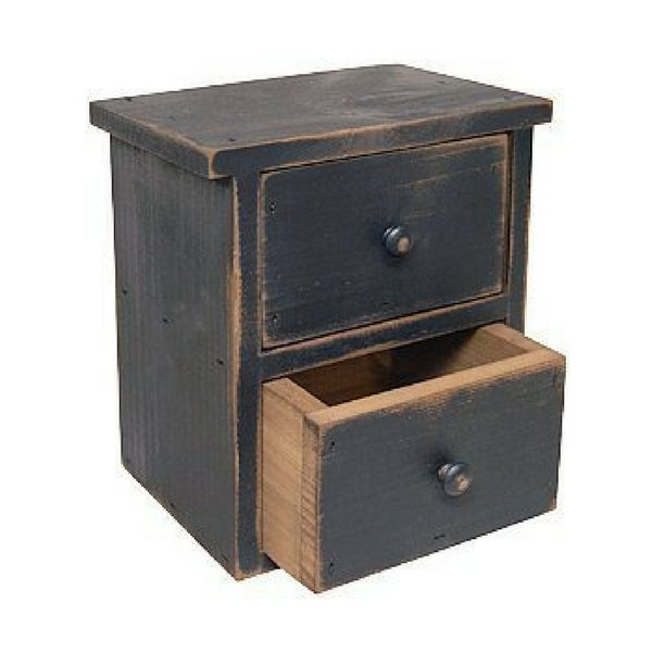 Apartment Furniture For Small Spaces | Furniture With Storage | Distressed Wood Farmhouse Style Bedside Table With Drawers