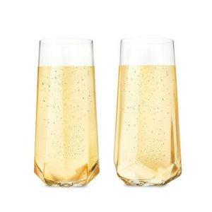 Mother's Day Gift Ideas | Stemless Crystal Champagne Flutes