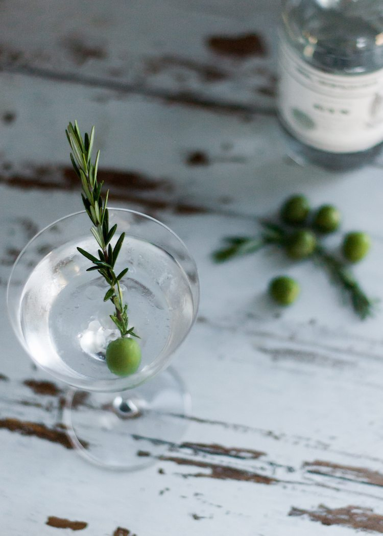 National Martini Day | Smoked Rosemary Oil Dirty Martini
