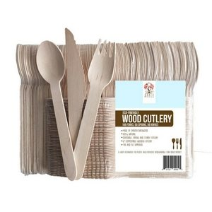 Outdoor Dining Essentials | Picnic Accessories | Wooden Disposable Cutlery