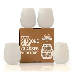 Outdoor Dining Essentials | Picnic Accessories | Silicone Stemless Wine Glasses