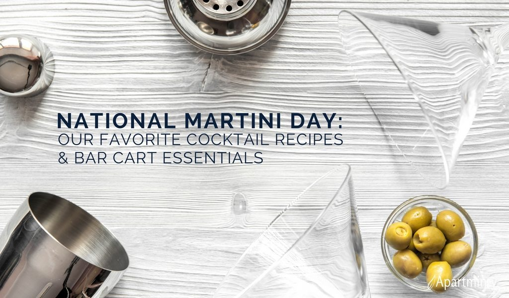 National Martini Day | Our Favorite Cocktail Recipes & Bar Cart Essentials