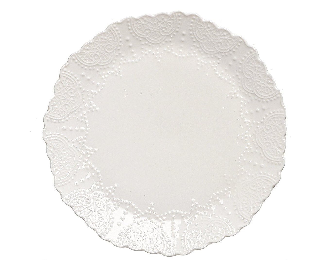 Thanksgiving Tablescape | Entertaining In Your Apartment | Scalloped Embossed White Dinner Plates