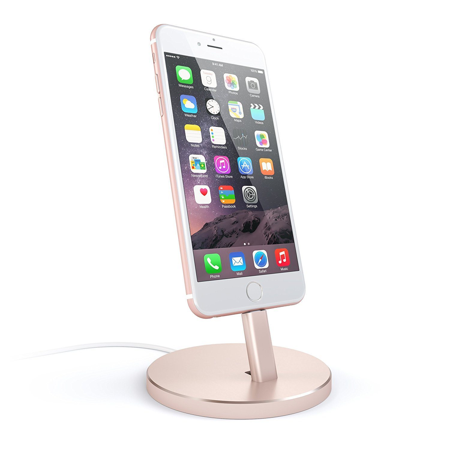 Desk Accessories | Rose Gold Desktop Phone Charging Stand