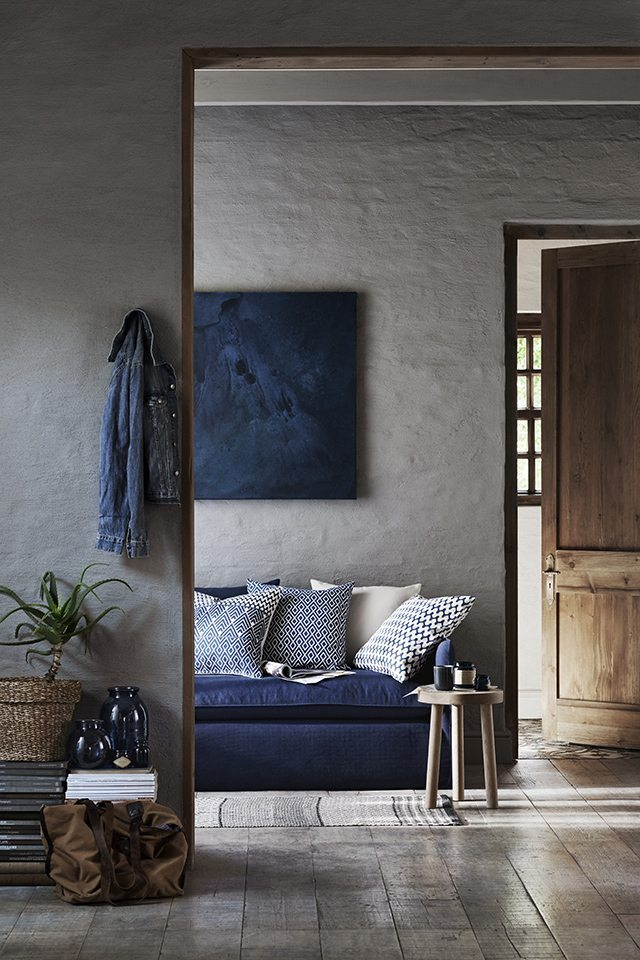 Winter Blues | Blue Decor | Blue and Grey Living Room Inspiration
