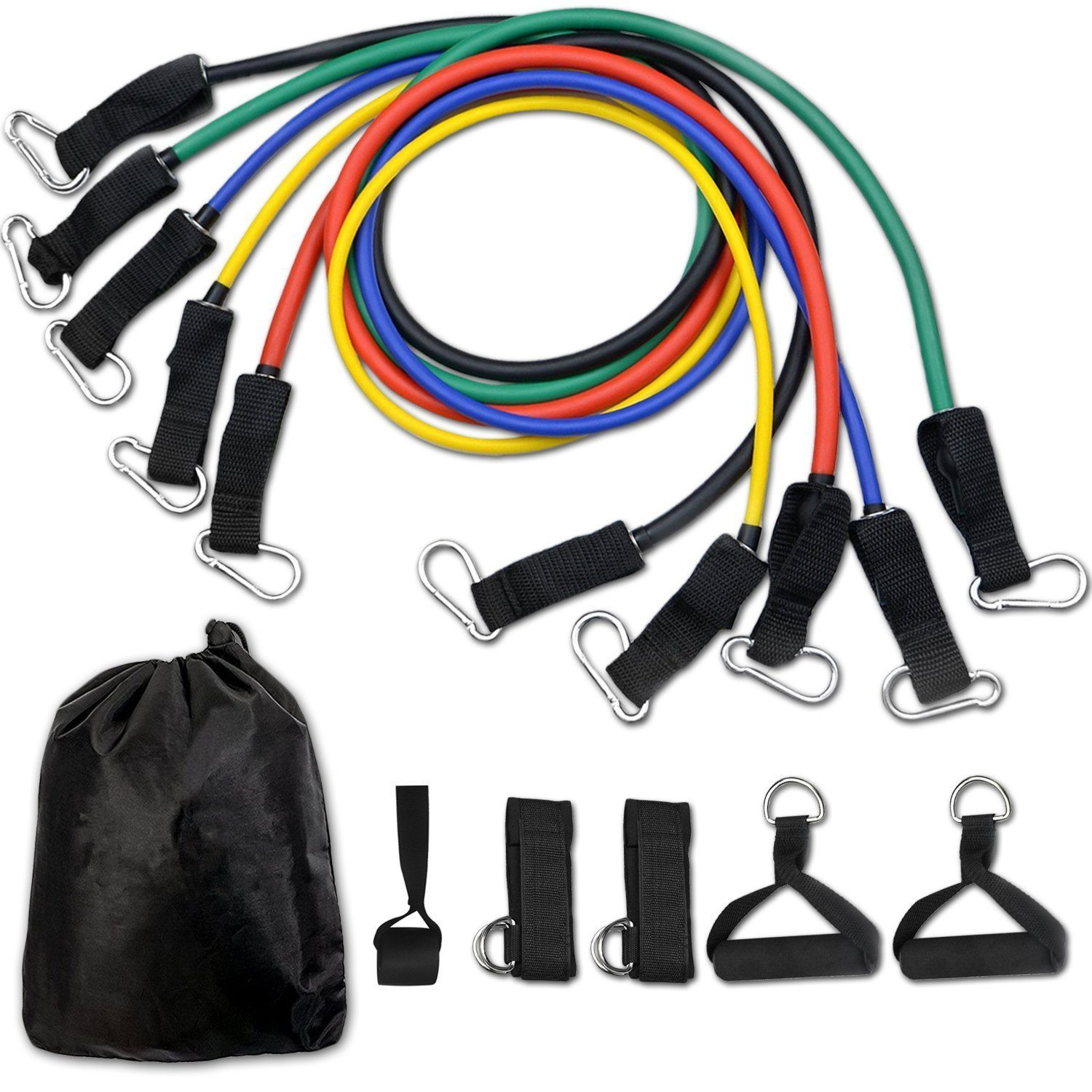 Small Space Home Fitness Equipment For Your Apartment | 11-Piece Resistance Band Set