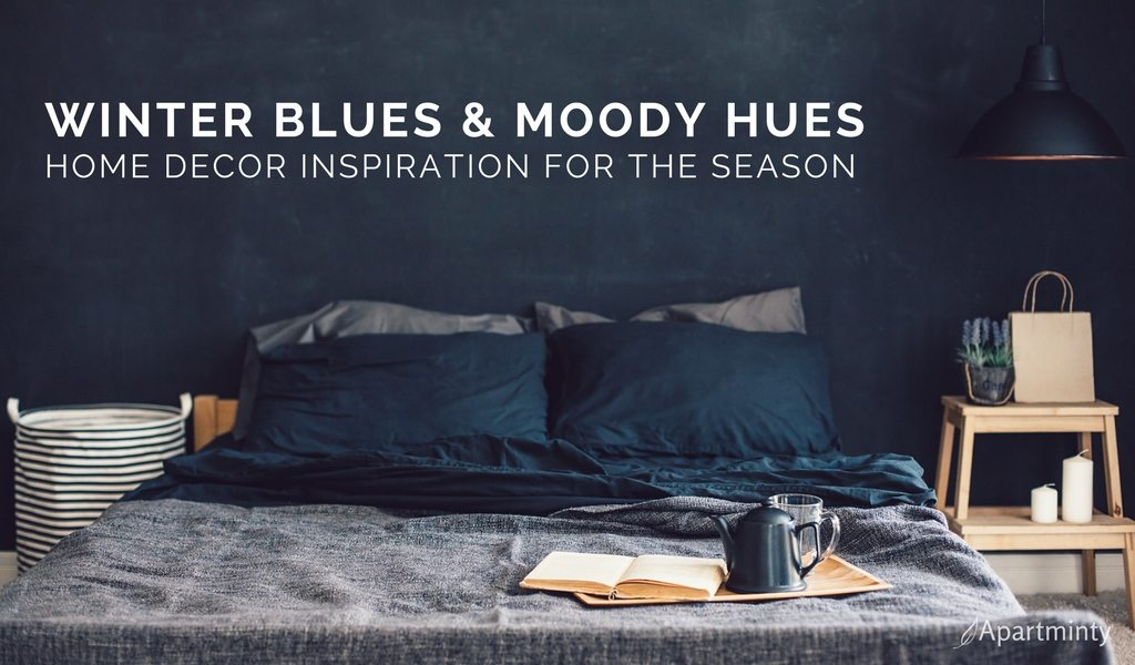 Winter Blues & Moody Hues | Winter Home Decor Inspiration