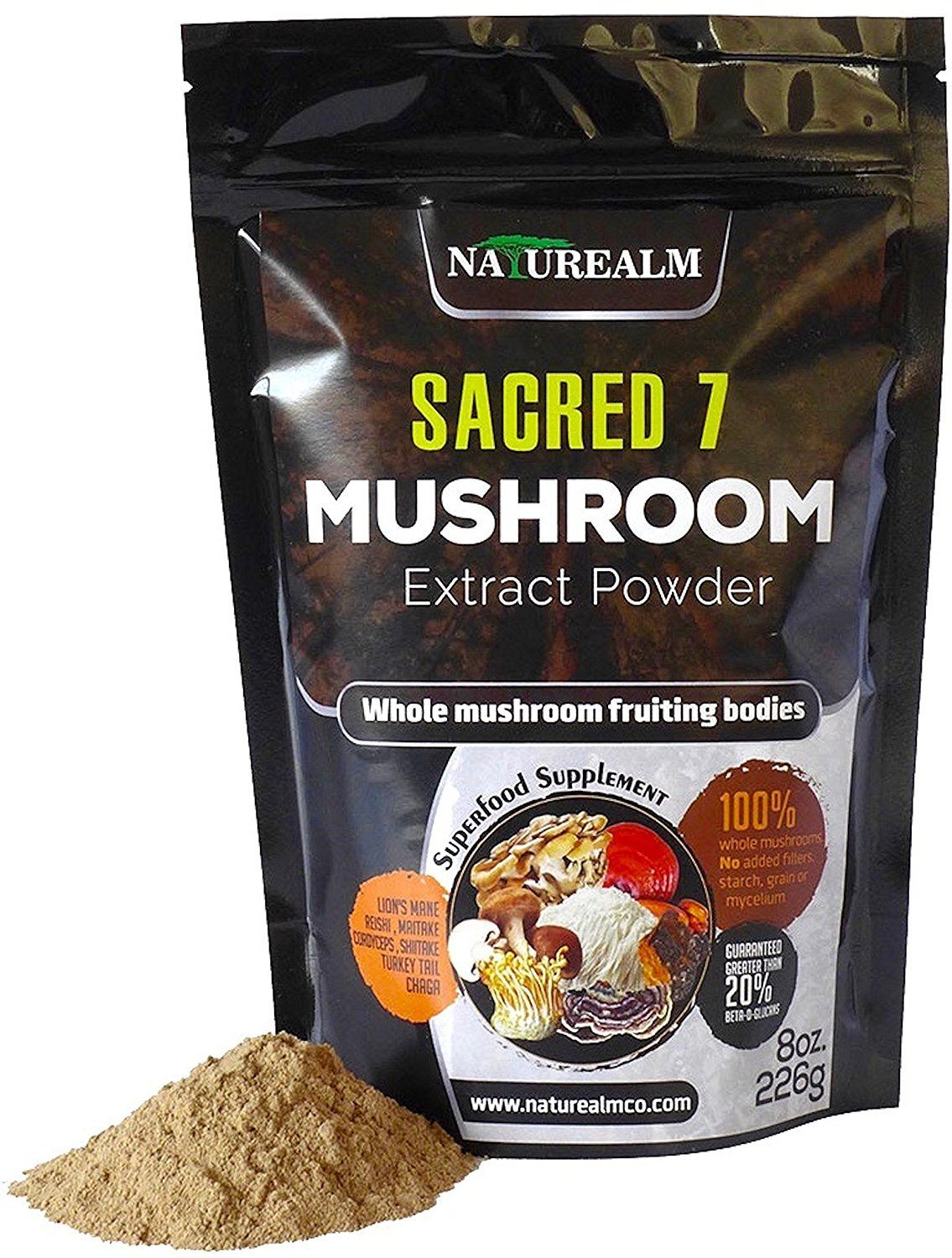 Apartminty Fresh Picks | Tea & Coffee Additions | Sacred 7 Organic Mushroom Extract Powder For Wellness