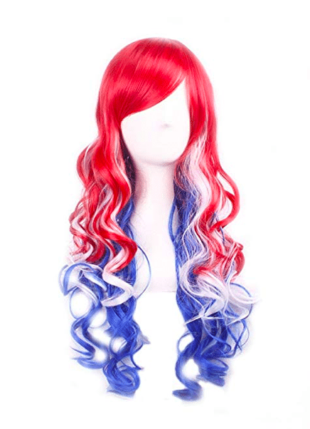 Fourth of July Red, White & Blue Accessories | Patriotic Wig