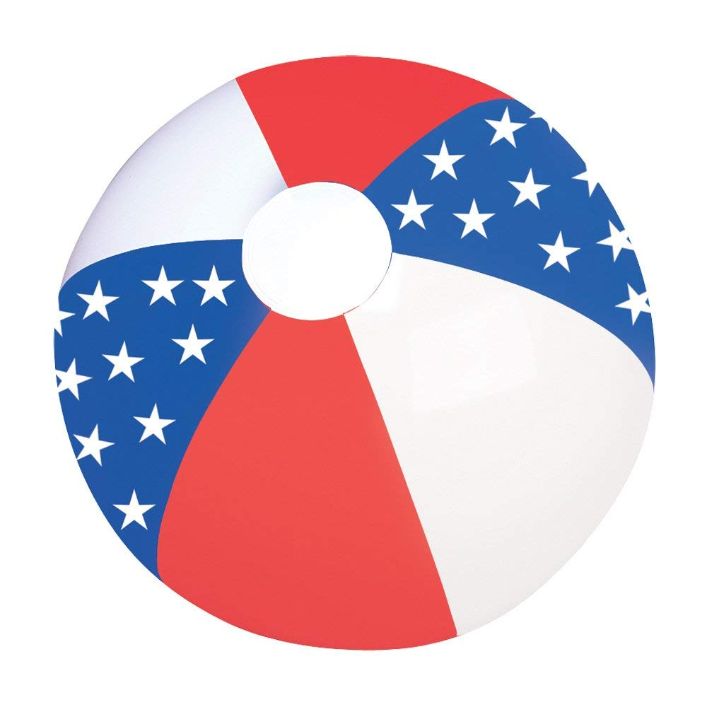 Fourth of July Red, White & Blue Accessories | Beachball With Stars