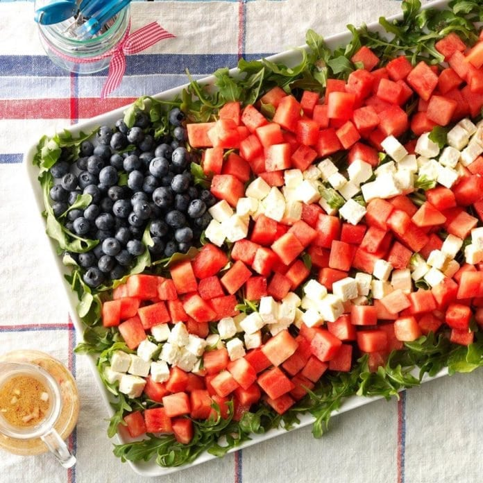 Fourth of July BBQ Recipes | Watermelon Feta Salad