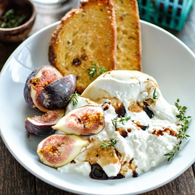 burrata and figs appetizer| Fig Recipes