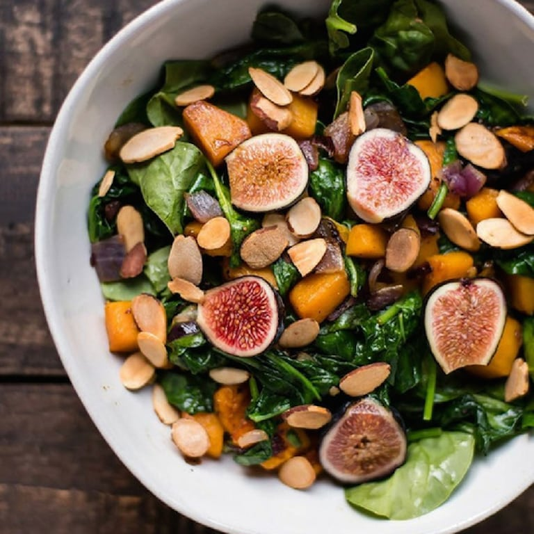 Warm-spinach-and-fig-salad