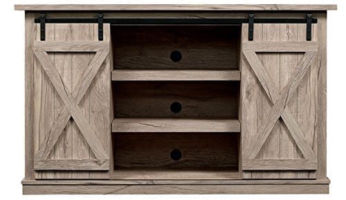 Farmhouse Vibes | Apartment Decor | Sliding Barn Door TV Stand