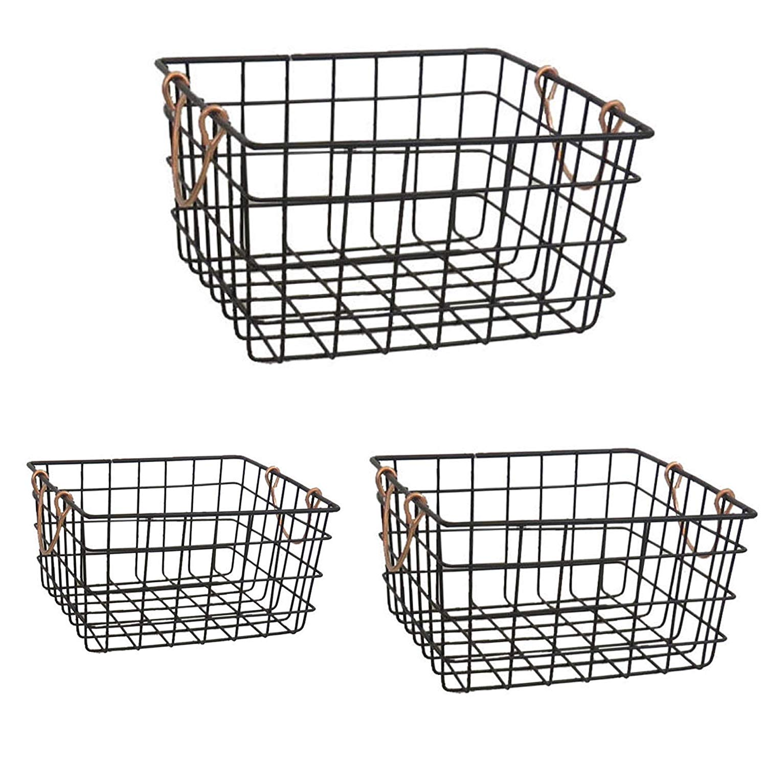 Farmhouse Vibes | Apartment Decor | French Country Black Wire Baskets
