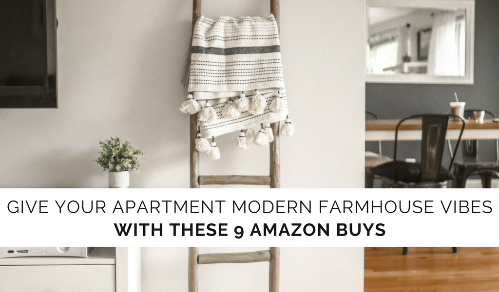 Modern Farmhouse Vibes | Apartment Decor From Amazon