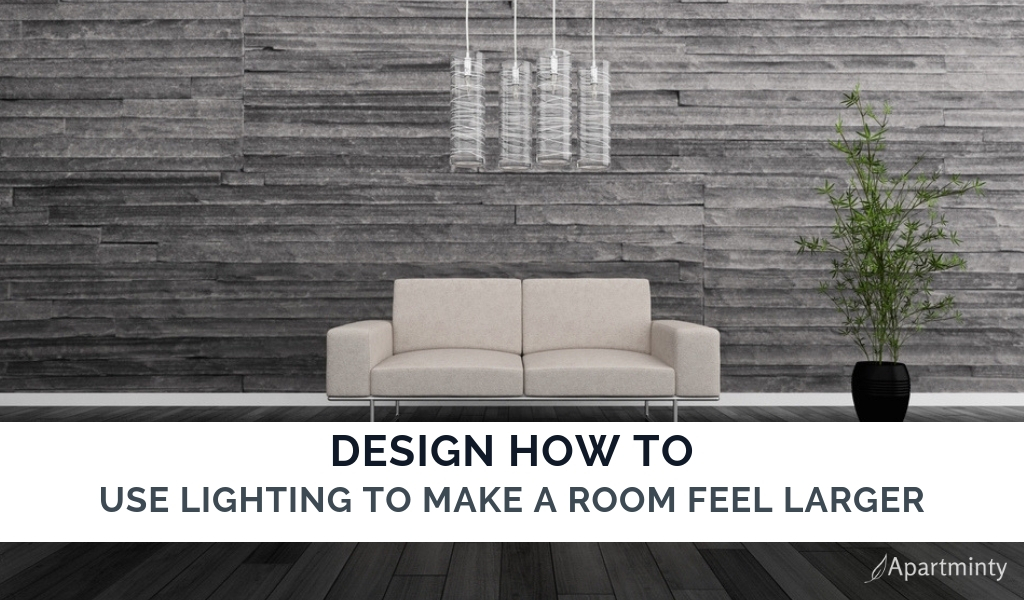 apartment decor | How to use lighting to make a room look bigger