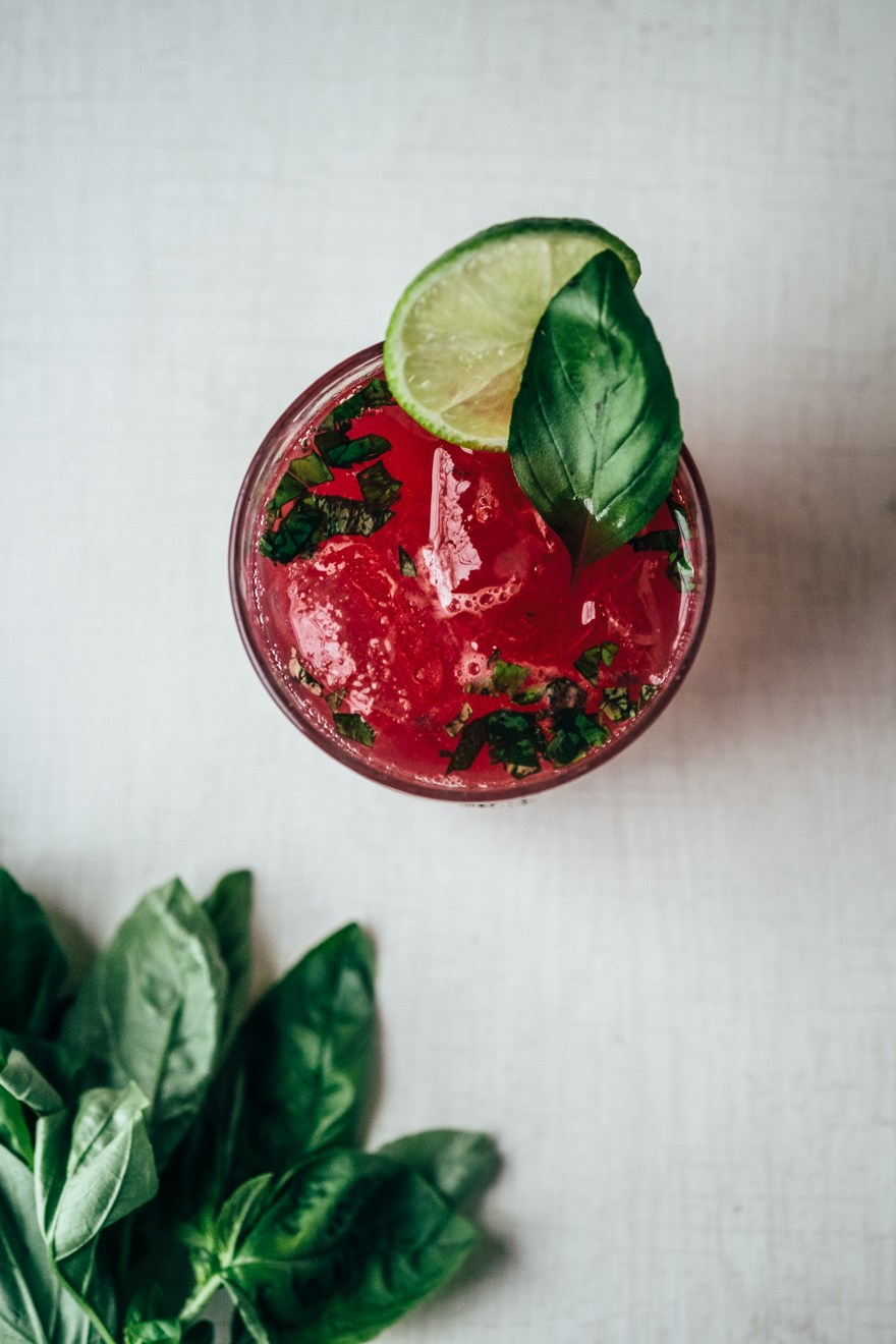 Mocktail Recipes| Pomegranate Basil