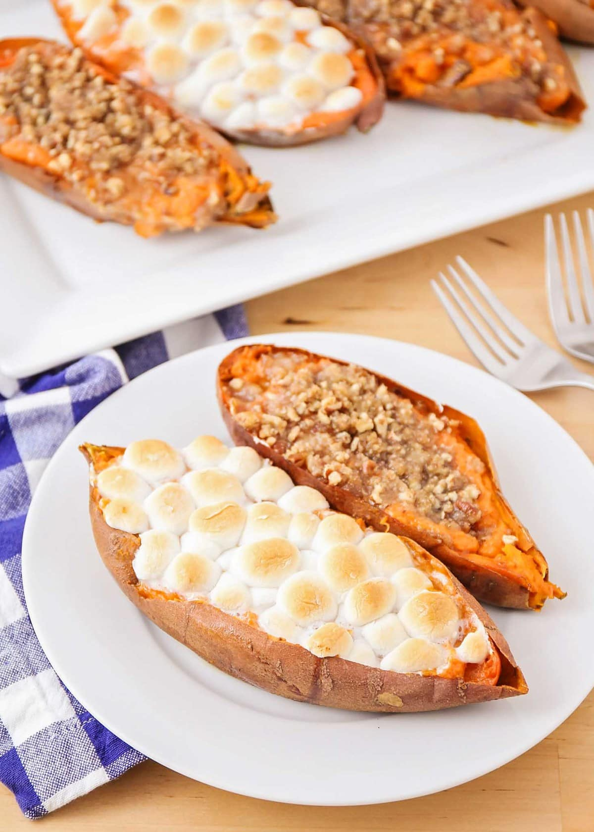 friendsgiving Recipes | easy thanksgiving side dishes | twice baked sweet potatoes