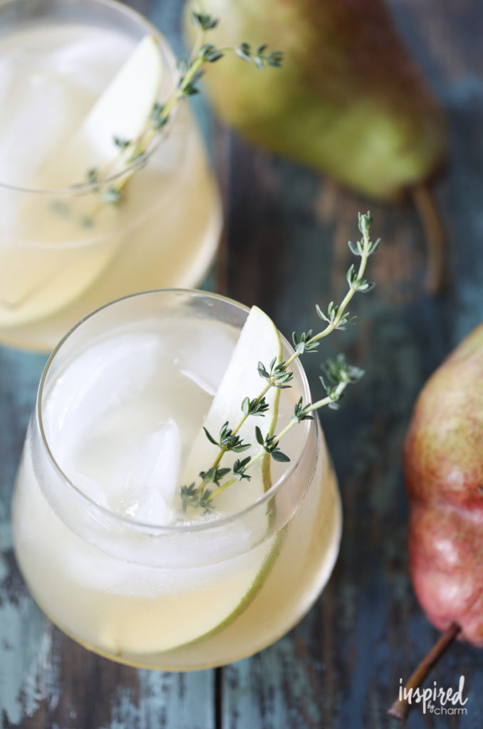Spiced-Pear-Gin-Cocktail